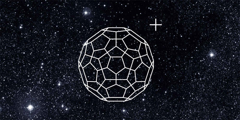 Ionized Buckminsterfullerene (C60+) is present at the gas-phase in space.