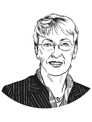 Prof. Anita Riecher-Rössler. (Illustration: Studio Nippoldt)
