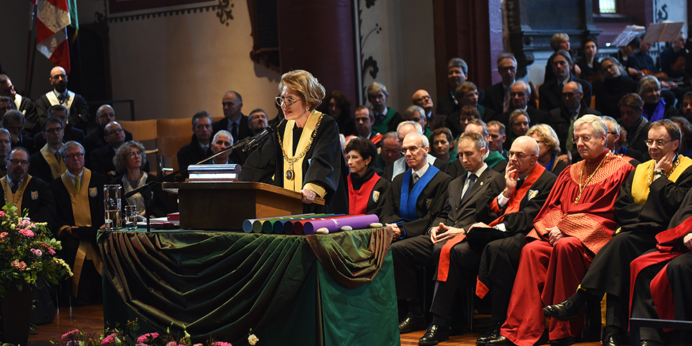 The University of Basel celebrated its Dies Academicus with a traditional ceremony in Basel's St. Martin's Church. (Image: University of Basel, Peter Schnetz)