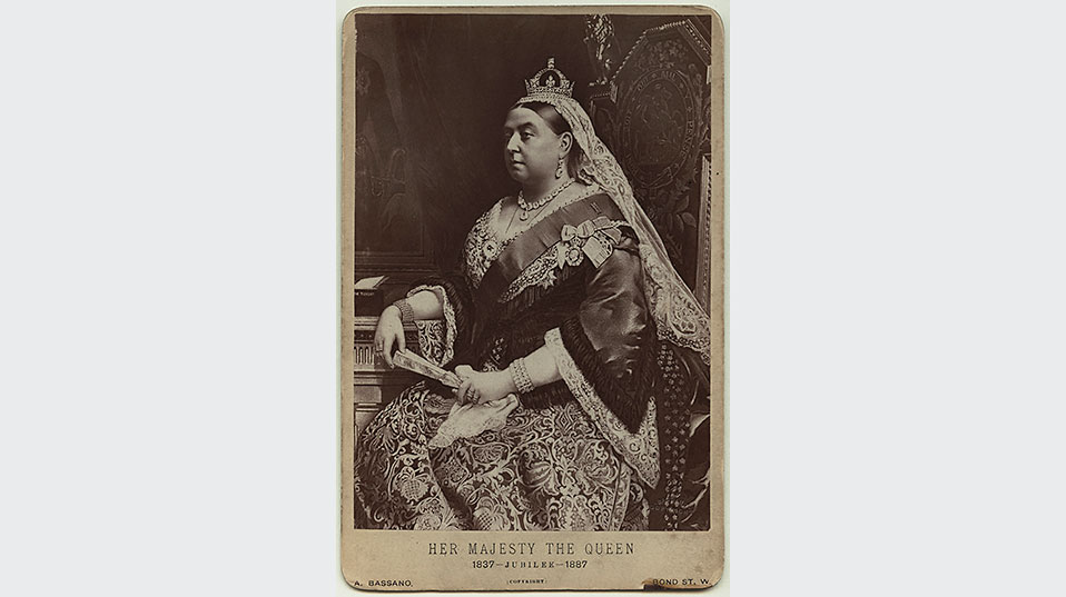Queen Victoria on a postcard from 1887. (Image: National Portrait Gallery, London)