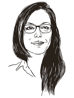 Illustriertes Portrait von Dr. Jana Jarecki. (Illustration: Studio Nippoldt)