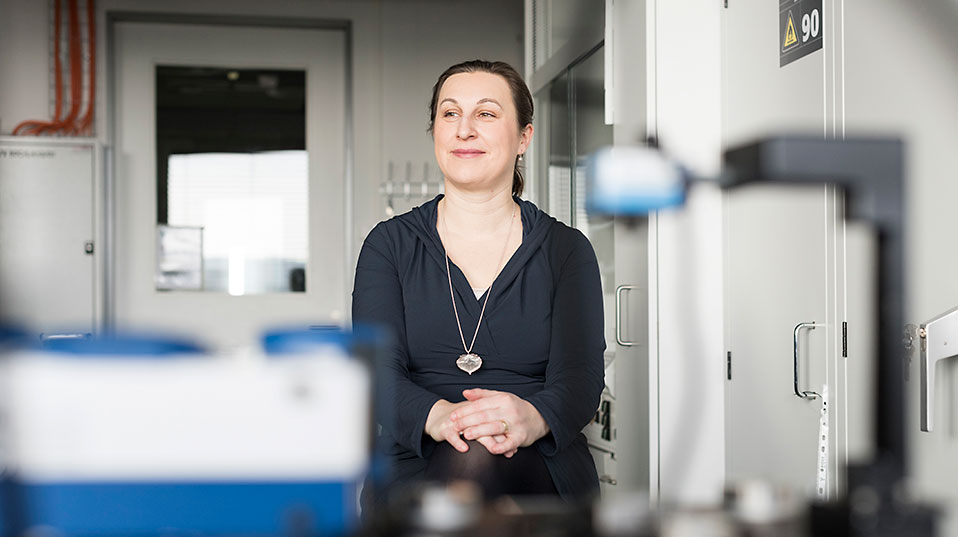As a researcher, Dr. Marija Plodinec has developed an analytical method for cancer diagnostics. As an entrepreneur, she now wants to bring the tool to market. (Image: University of Basel, Christian Flierl)