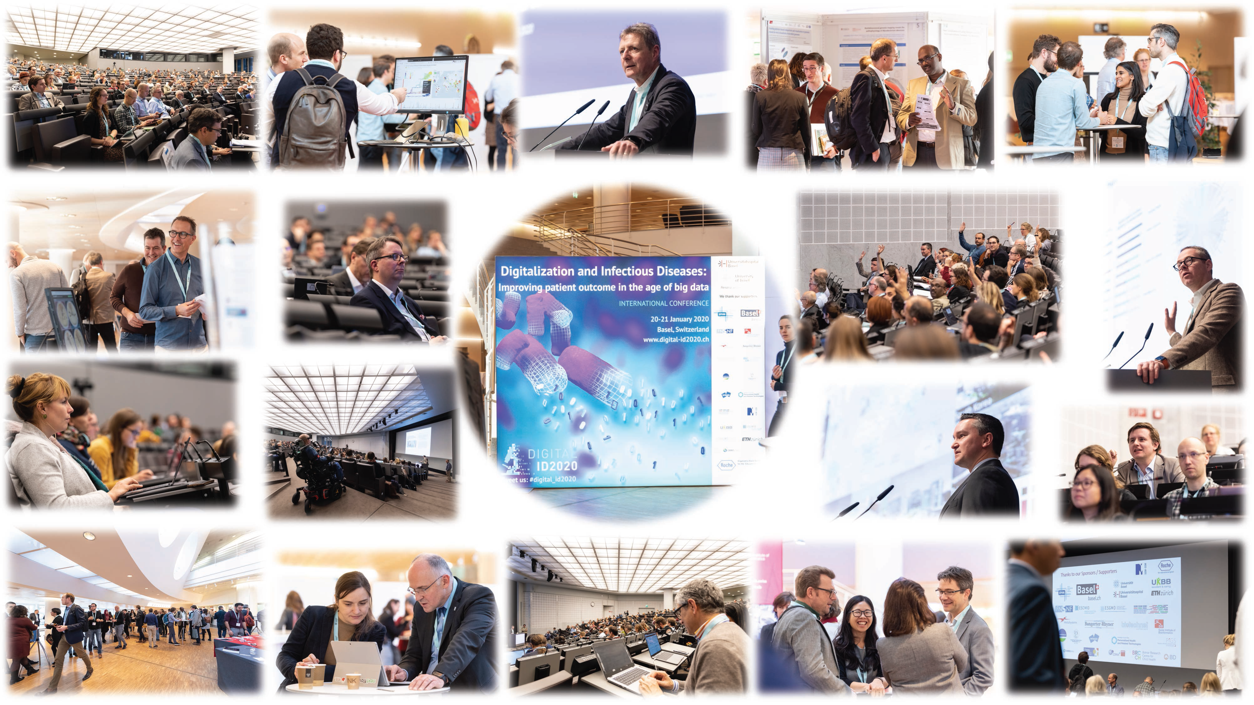Collage of selected Photos of conference Digitalization and Infectious Diseases 2020