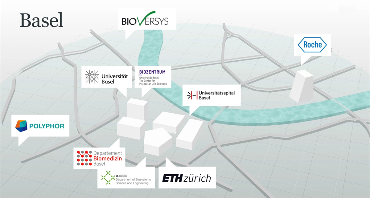 "Basel is the geographical centre of the NCCR ""AntiResist"". An overview of the institutions and companies involved."