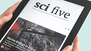 Sci Five on a tablet
