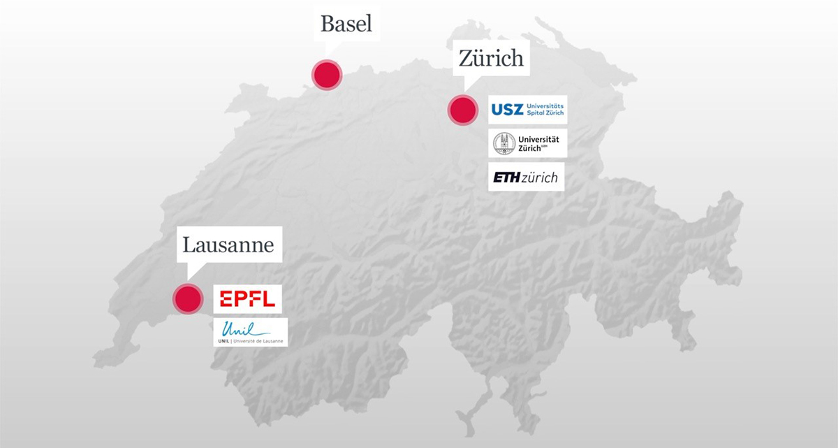 Further research groups are located in Zurich and Lausanne.