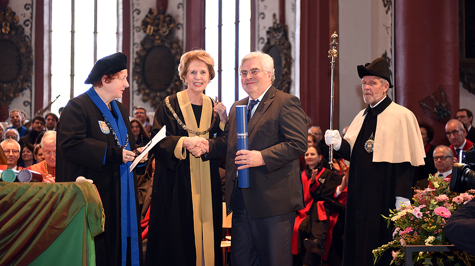 KD Wolff, honorary doctor of the Faculty of Humanities and Social Sciences. (Image: University of Basel, Peter Schnetz)