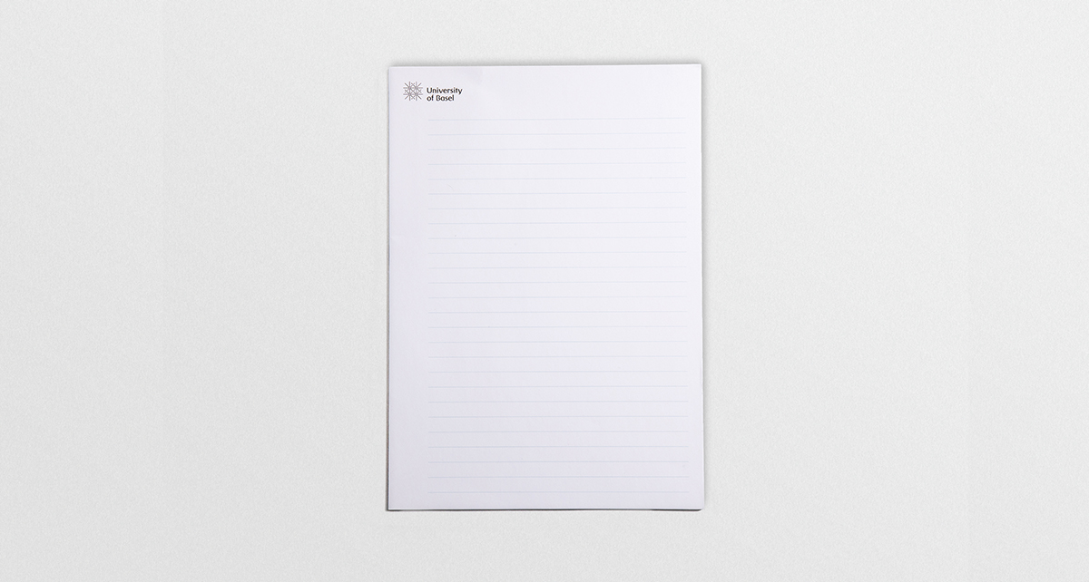 Writing pad A4 | CHF 1.50 | from 50 pieces up CHF 1.00