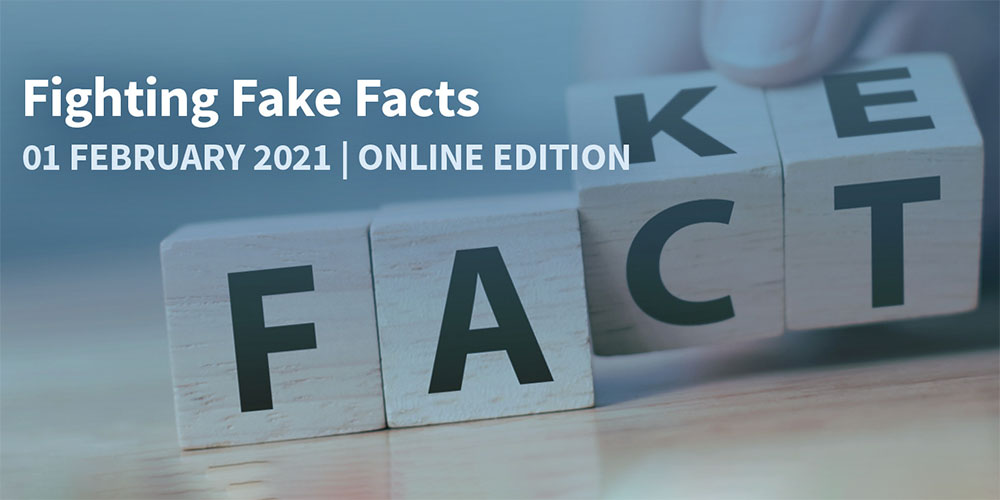 Key Visual der Konferenz F3–Fighting Fake Facts