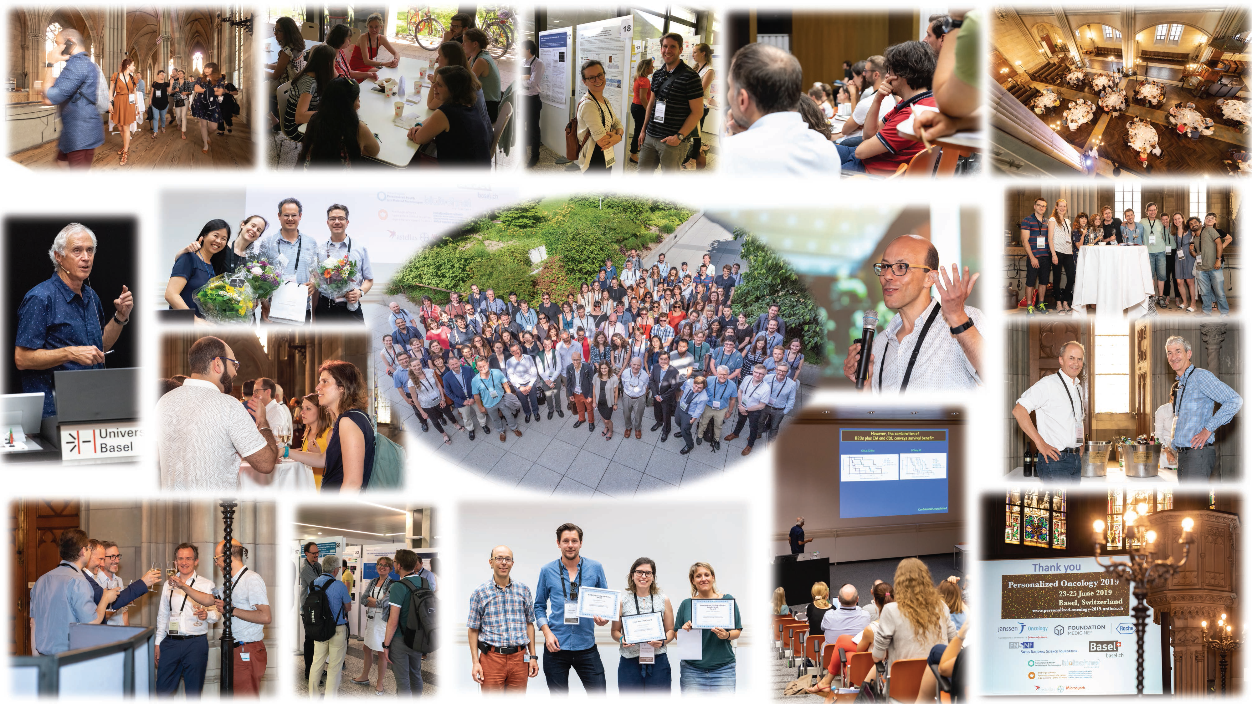 Collage of selected Photos of Personalized Oncology Conference 2019