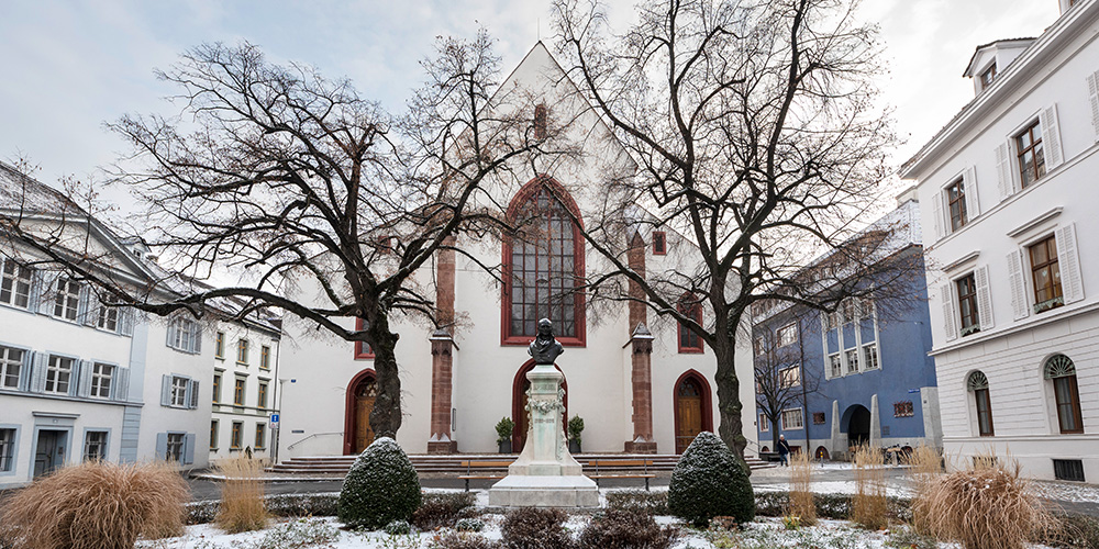 Winter auf dem Petersplatz, Peterskirche