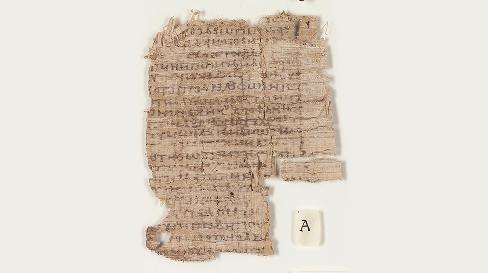Prior to the conservation, the papyrus could hardly be deciphered. (Photo: University of Basel)