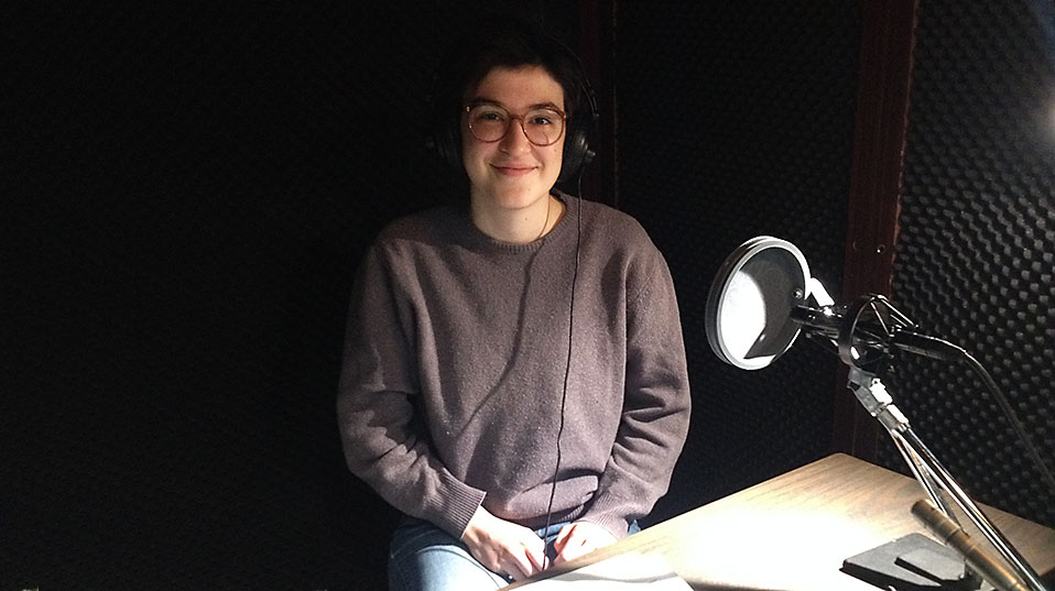 During the recording at the New Media Center: Nataša Pavković studies English and Slavic literature.